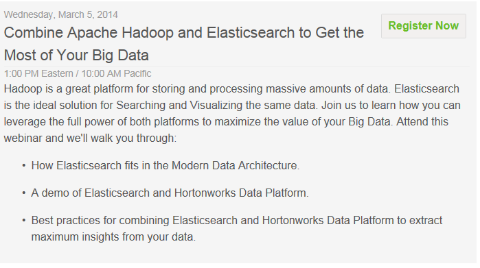 Webinar - Unlock Big Data Analytics - Hortonworks - 5 March